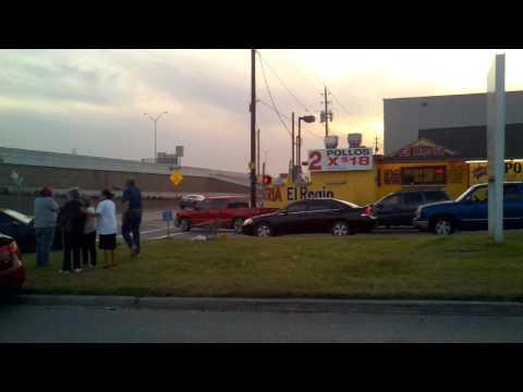 old lady ,car wreak ,just happend ,freeport @i10