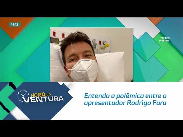 Entenda a polêmica entre o apresentador Rodrigo Faro e o SBT