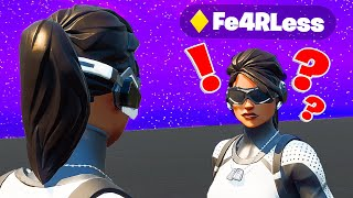 I Got Caught Pretending to be Fe4RLess in Fortnite... (he confronted me)