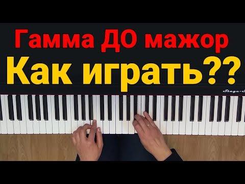 Гамма ДО мажор + как играть? ПОДРОБНО | Музыкальная академия Глория