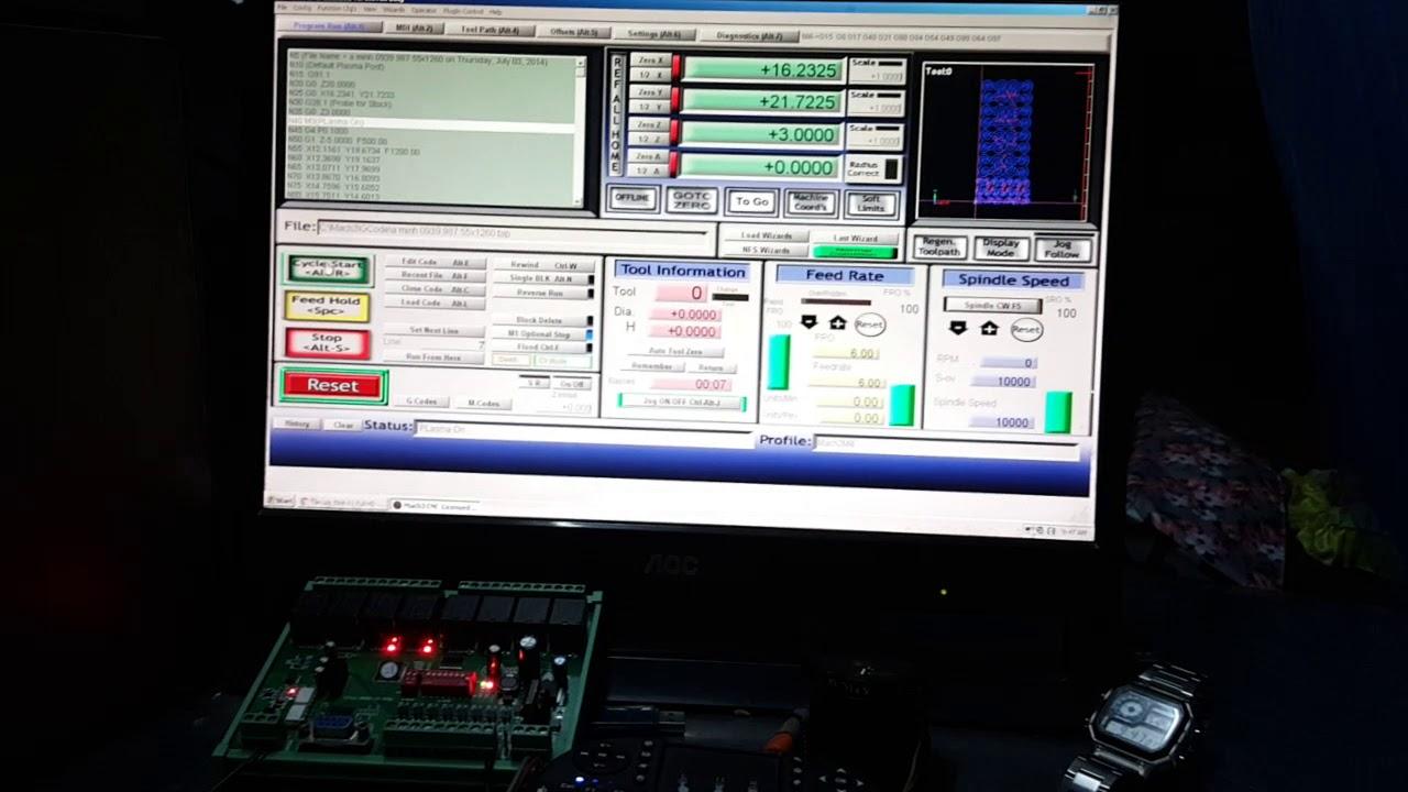 CKD test - NLK-IO-0808 Modbus module control by Mach3 #2 - hmong video