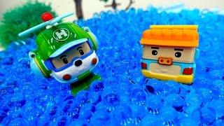 Spielspaß mit #Robocar Poli - Dumpoo ist in den See gefallen - Einsatz für das Rettungsteam