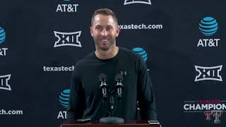 Texas Tech Football vs. Kansas: Media Availability | 9.16.2018