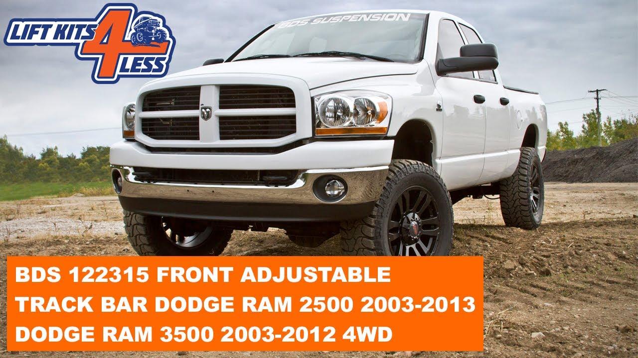 BDS 122315 Front Adjustable Track Bar Dodge Ram 2500 (2003-13) 3500 (2003-12) 4WD - YouTube