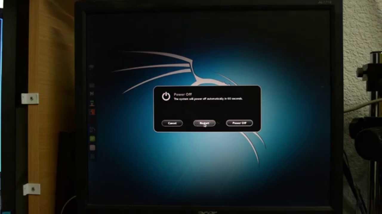 Установка Kali linux используя раздел на HDD