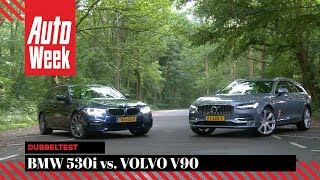 BMW 5-serie Touring vs. Volvo V90 - AutoWeek dubbeltest - English subtitles