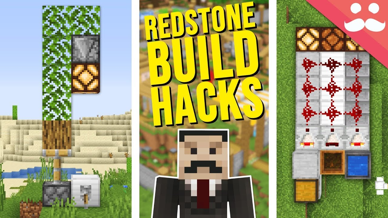 25 Redstone Build Hacks in Minecraft thumbnail