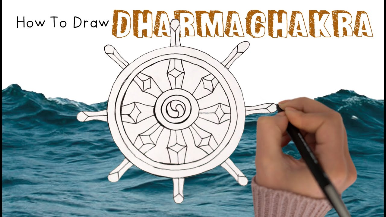How to Draw the Wheel of Dharma ☸️