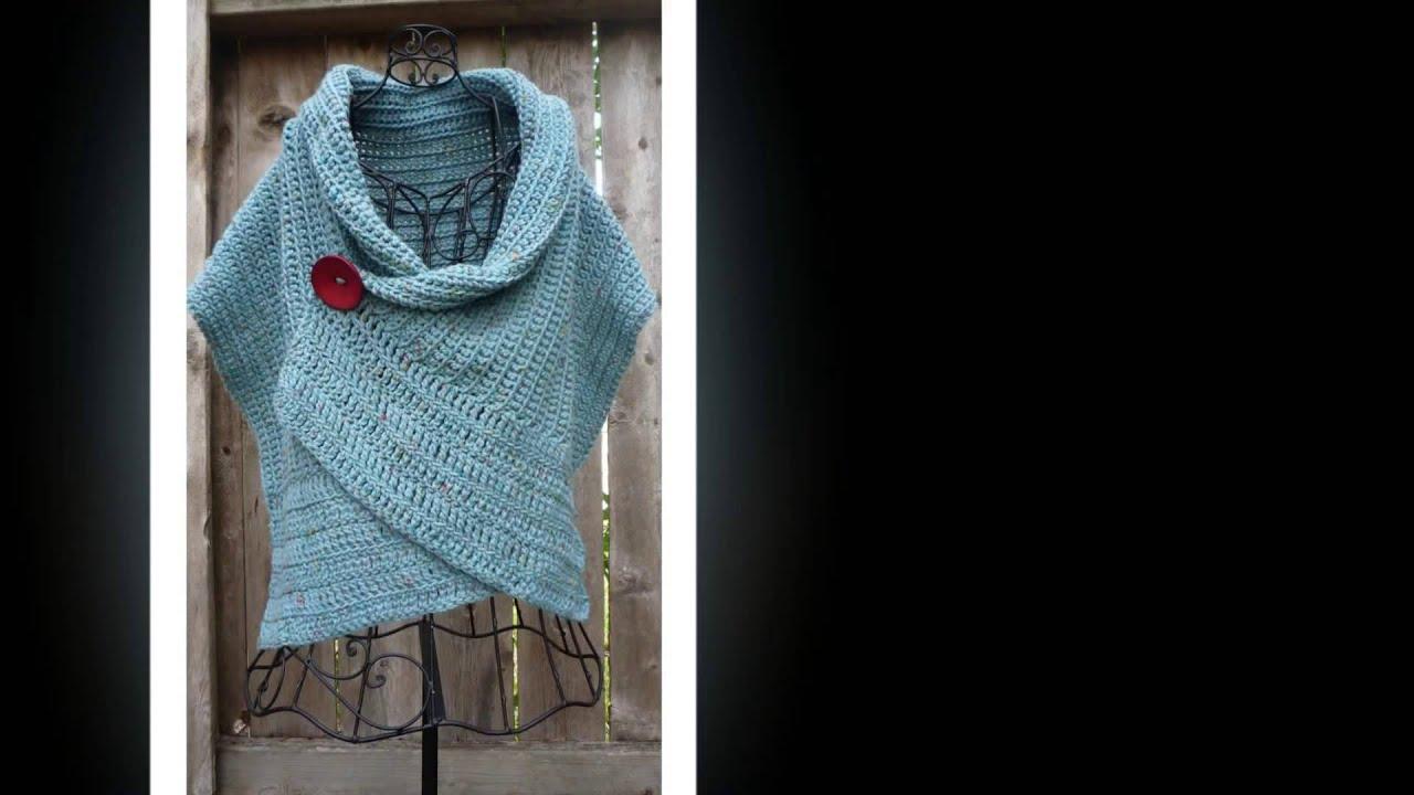 free crochet pattern for a ruana - YouTube
