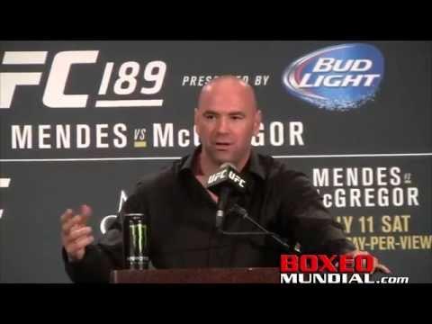 Dana White talks UFC 189: Conor Mcgregor vs Chad Mendes at post fight presser