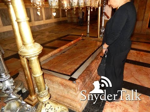 Inside the Church of the Holy Sepulchre in front of the Messiah's Tomb