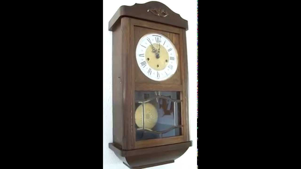 German Westminster And Ave Maria Chime Wall Clock