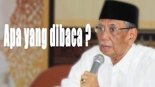 KH.Hasyim Muzadi : Apa yang Di baca ? | alhikamdepok