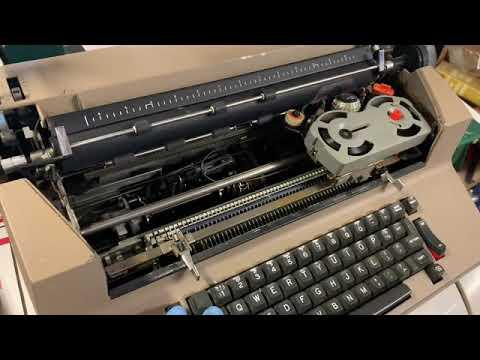 IBM Correcting Selectric II clean up