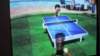 Wii  sport。桌球/table tennis/ピンポン 6:0勝削球手Akira