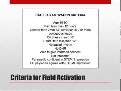 Physician STEMI Field Activation Training Module