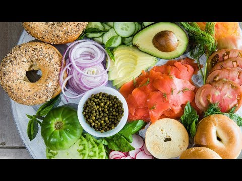 Smoked Salmon Bagel Bar