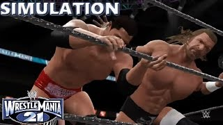 WWE 2K16 SIMULATION: Batista vs Triple H | Wrestlemania 21 Highlights