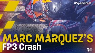 Marc Marquez's FP3 crash | 2021 #SpanishGP