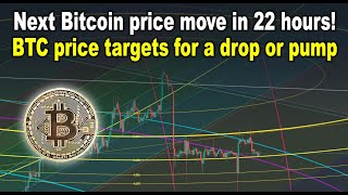 Next Bitcoin price move in 22 hours! BTC price targets for a drop or pump (I say we dump)