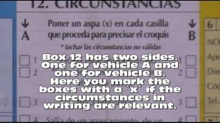 How to complete a car accident report form in Spain