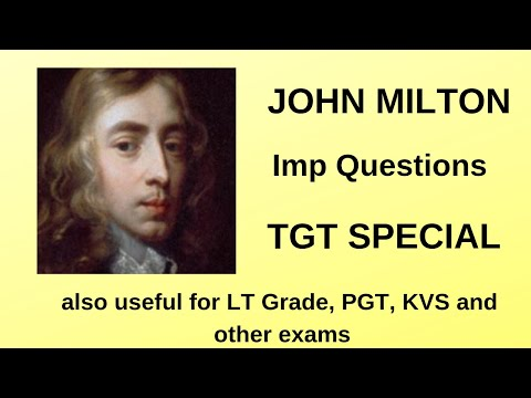 John Milton Imp Question for TGT Exam, also useful for LT Grade, PGT, KVS and other exams