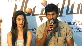 """SANTHANAM IS GOURAVAM, I'M HIS SERVANT""- VISHAL 