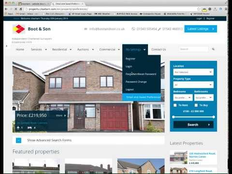 cleartarn Property Website and Real Time Property Portal Feed