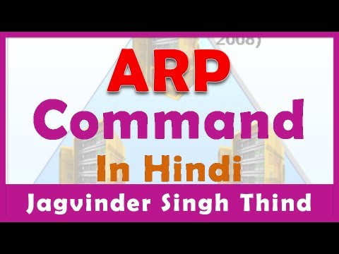 Address Resolution Protocol in Hindi - ARP Command Working