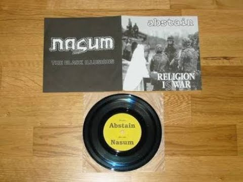 NASUM / ABSTAIN - Religion Is War/The Black Illusions EP (1999) mp3