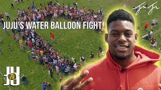 JuJu's First Ever Water Balloon Fight!!