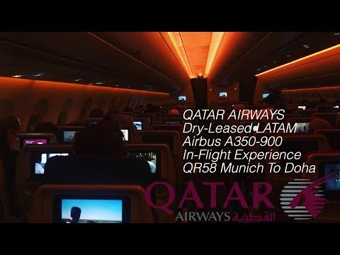Qatar Airways Airbus A350-900 (Dry-Leased LATAM) Munich To D