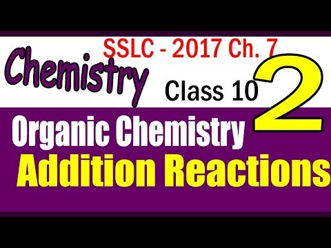 Organic CHEMISTRY| Addition Reactions| PART 2 - CHAPTER 7 |2017 | | CLASS 10 KERALA