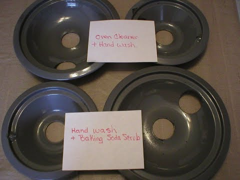 Test Comparison-Two Ways to Clean Stove Drip Pans
