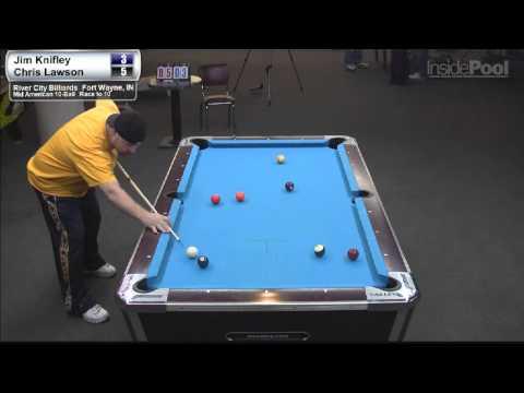 Jim Knifely vs Chris Lawson at River City Billiards