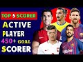 Top 5 Active Player Goal Scorers ⚽ Active Player Highest Goal Scorer ⚽ Ronaldo, Messi, Suarez & More