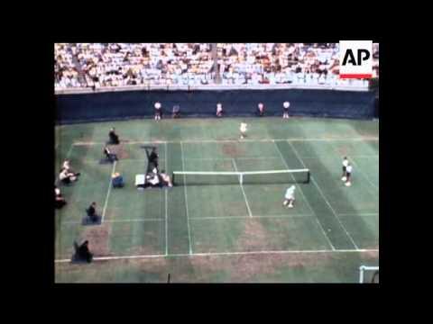 MARGARET SMITH WINS U S TENNIS OPEN - SOUND - COLOUR  - COLOUR VERY GOOD