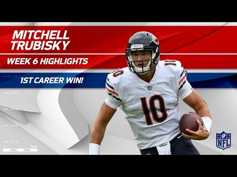 Mitchell Trubisky's 1st Career Victory! | Bears vs. Ravens | Wk 6 Player Highlights