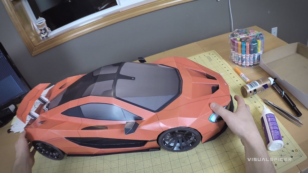 Papercraft Building the McLaren P1 Paper-Super-Craft . Artist POV