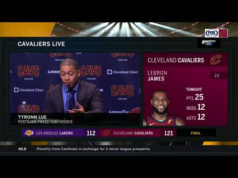 Ty Lue postgame comments on LeBron James' latest milestone, Lonzo Ball | CAVS-LAKERS