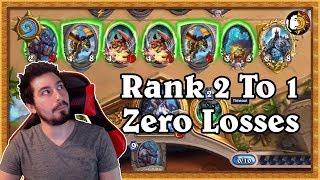 Hearthstone: Zero Losses Rank 2 To 1 - BIG Control Druid