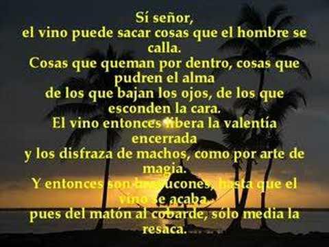 Poema El vino  - en la voz de Alberto Cortéz