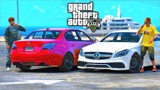 РЕАЛЬНАЯ ЖИЗНЬ В GTA 5 - КУПИЛИ НОВЫЕ ТАЧКИ MERCEDES CLS 63 И BMW M5 E60!  ⚡ГАРВИН