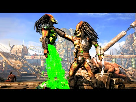 Mortal Kombat X Predator Time to Bleed Brutality on All Characters