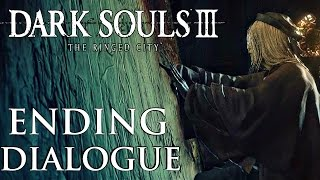 Dark Souls 3 Ringed City - True Ending Dialogue Options Give Blood of Dark Soul to Painting Girl