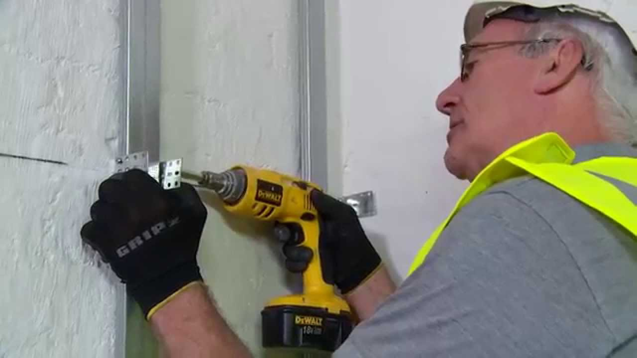 How To Cover An Uneven Wall Using Metal Stud Youtube