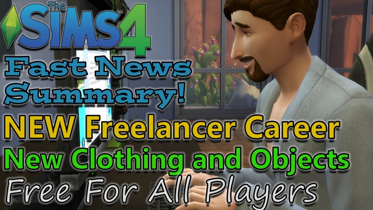 Sims 4 Freelancer Career  - New Feature COMING SOON To All Players
