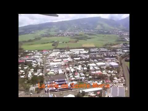 Décollage de La Réunion pour Mayotte. Vol Air Austral B 777 200 ER Take off Réunion to Mayotte