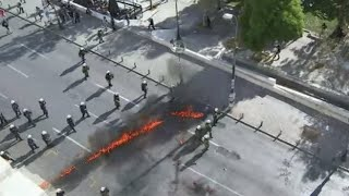 Syriza aursterity policy faces fierce protests, Molotovs thrown at police in Athens