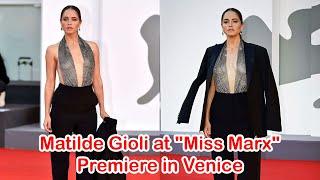 """Date : 07 sep 2020location venice celebrity matilde gioli at """"miss marx"""" premiere in de - bei der von """"mi..."""